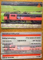 ISRAEL Prepaid Phonecard -  Issued 500 Ex.- MINT - Trains
