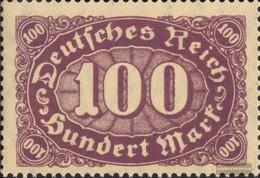Deutsches Reich 219I, Lungo Barra Posta Sopra Su M Di Mark (Campo 32) MNH 1922 Punto - Nuovi