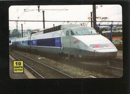 ISRAEL Prepaid Phonecard -  Issued 500 Ex.- MINT - TRAIN - Trains