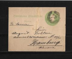 Argentina-1893 2 C Green Liberty PS Wrapper Buenos Aires Cover To Germany - Entiers Postaux