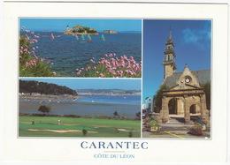 GOLF: Carentec (Cote Du Léon) - Le Golf Municipal, Chateau Du Taureau, L'ile Louët Et L'église - (Finistère, France) - Golf
