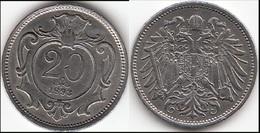 AUSTRIA 20 Heller 1893 Franz Joseph I KM#2803 - Used - Austria
