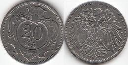 AUSTRIA 20 Heller 1894 Franz Joseph I KM#2803 - Used - Austria