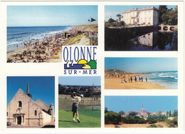 GOLF: Olonne Sur Mer: Le Golf, Chateau De Pierre Levée, Plages, Eglise -  (Vendée, France) - Golf