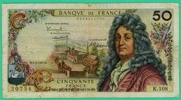 50 Francs - France -  Racine  - N° K.108 20754 / M.2-2-1967.M.. - TB+ - 1962-1997 ''Francs''