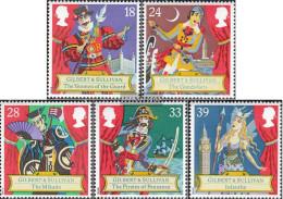 United Kingdom 1409-1413 (complete Issue) Unmounted Mint / Never Hinged 1992 Sir A. Sullivan - 1952-.... (Elizabeth II)
