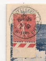 1930 SURCHARGE CONGRES DU B I T   CP B027 - Marcophilie (Lettres)