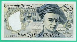 50 Francs - France -  Quentin De La Tour - N° N.60 808874 / 1990 - Neuf - 1962-1997 ''Francs''