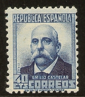 ESPAÑA Edifil 660** Mnh  40 Céntimos Azul   Personajes  1931/32  NL907 - 1931-50 Neufs
