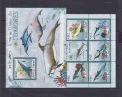 P156. Comoro - MNH - Nature - Marine Life - Dolphins - Briefmarken
