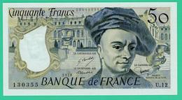 50 Francs - France -  Quentin De La Tour - N° U.12 130355 / 1978   - Neuf - 1962-1997 ''Francs''