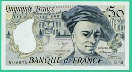 50 Francs - France -  Quentin De La Tour - N° N.60 808872 / 1990    - Neuf - 1962-1997 ''Francs''