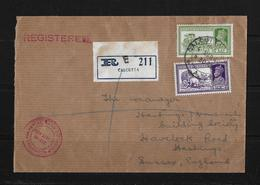 India-1940 Imperial Airways Imperial Bank Of India, Calcutta Reg Airmail Cover - Poste Aérienne