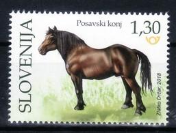 3333 D60 Slowenien Slovenia 2018 ** MNH Domestic Animal Mammals Pferd Horse - Pferde