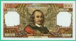 100 Francs - France -  Corneille - N° V.1070 09614 / X.3-3-1977.X.  - Sup - - 1962-1997 ''Francs''