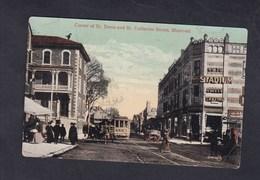 Montreal Corner Of St. Denis And St. Catherine Street ( Animée Tramway Valentine & Son) - Montreal