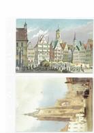 "GERMANY 1993 - UNIQUE PART OF KALENDAR ""SCHÓNE BRUNNEN 1987 - DER MARKTPLATZ STUTTGART-ST.VEITS KIRCHE PRAG INFA 93 HANN - Calendriers"