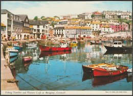 Fishing Trawlers And Pleasure Craft At Mevagissey, Cornwall, C.1980 - John Hinde Postcard - England