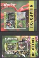 Q981 2015,2016 NIUAFO'OU TONGA SAMOA FLORA FAUNA BUTTERFLIES !!! MICHEL 390 EURO !!! 1KB+1BL MNH - Schmetterlinge