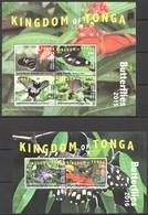 Q982 2015,2016 TONGA NIUAFO'OU SAMOA FLORA & FAUNA BUTTERFLIES !!! MICHEL 390 EURO !!! 1KB+1BL MNH - Schmetterlinge
