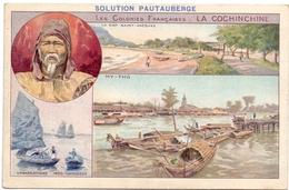 Chromo - Produits Solution Pautauberge - Les Colonies Françaises - La Cochinchine - Zonder Classificatie