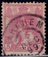 Netherlands, 1898-1924, Queen Wilhelmina, 5c, Sc#65, Used - Oblitérés