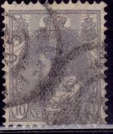 Netherlands, 1898-1924, Queen Wilhelmina, 10c, Sc#67, Used - Oblitérés