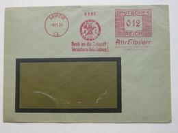 1935 , LEIPZIG   , Glasklarer Firmen - Freistempel  Auf  Brief - Deutschland