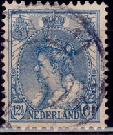 Netherlands, 1898-1924, Queen Wilhelmina, 12 1/2c, Sc#68, Used - Oblitérés