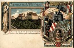 Allemagne Gruss Aus Nurnberg Peter Vischer Très Jolie Litho Embossed Card Carte En Relief - Nuernberg
