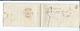 LAC De HARELEBEKE (harelbeke) 1 Mai 1838 Vers  MONS - Départ De Courtray Boite Rurale F - 1830-1849 (Belgica Independiente)