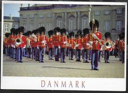 DANIMARCA - CAMBIO DELLA GUARDIA - FORMATO GRANDE 17X13 - VIAGGIATA 1997 FRANCOBOLLO ASPORTATO - Danimarca