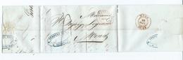 LAC De Courtray ( Courtrai ) 27 Sep 1843 Vers  MONS - 1830-1849 (Belgique Indépendante)