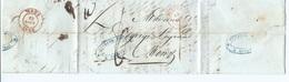LAC De Courtray ( Courtrai ) 24 Aout 1843 Vers  MONS - 1830-1849 (Belgique Indépendante)
