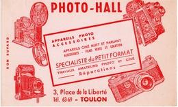 PHOTO-HALL -APPAREILS PHOTO ET ACCESSOIRES  PLACE DE LA LIBERTE  TOULON - Buvards, Protège-cahiers Illustrés