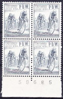 ** Tchécoslovaquie 1953 Mi 797 (Yv 706), Bloc De 4, (MNH) - Tschechoslowakei/CSSR