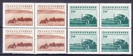 ** Tchécoslovaquie 1953 Mi 806-7 (Yv 710-11), Blocs De 4, (MNH) - Tschechoslowakei/CSSR