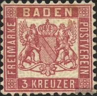 Baden 18 Fein (B-Qualität) Gestempelt 1862 Wappen - Bade