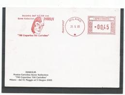 "Diabolik Meccanica Rossa Mostra Kover Collection ""700 Copertine 700 Cartoline 31mag2005 € 0.45 - Francobolli"