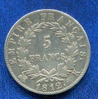 PIECE 5 FR 1812K NAPOLEON EMPEREUR - France