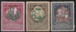 Russie 1914 N° Y&T :  94 à 96 (dent. 11,5) * - 1857-1916 Empire