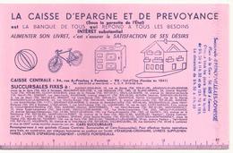 """Buvard 21 X 14 Cm """" La Caisse D'épargne """" - Banque & Assurance"""