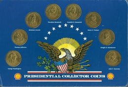 Z119 - PRESENTOIR JETONS - PRESIDENTIAL COLLECTOR COINS - SHELL - USA