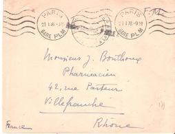 Griffe Linéaire CONTRE TORPILLEUR AIGLE - Postmark Collection (Covers)