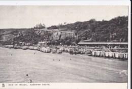 AM67 Isle Of Wight, Sandown Beach - Bathing Huts, C1905 Raphael Tuck Postcard - Sandown