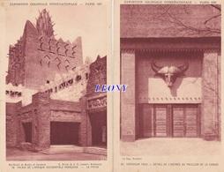 2 CPSM 9X14 De PARIS (75) - EXPOSITION 1931 - CAMEROUN TOGO - PALAIS De L' AFRIQUE OCCIDENTALE FRANCAISE Le PATIO - Expositions
