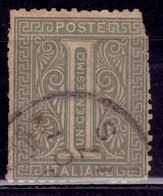 Italy, 1863, Numeral, 1c, Sc#24, Used - Used