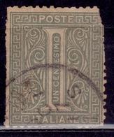 Italy, 1863, Numeral, 1c, Sc#24, Used - 1861-78 Vittorio Emanuele II