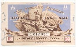 Billet De Loterie Nationale Les Gueules Cassées 1937 12 ème Tranche - Billets De Loterie