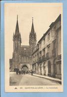 """Saint-Pol-de-Léon (29) La Cathédrale 2 Scans Magasin """"Aux Dames De France"""" Carte Animée - Saint-Pol-de-Léon"""